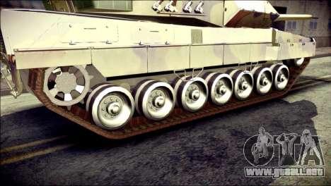 Leopard 2A6 para GTA San Andreas vista posterior izquierda