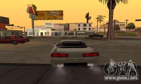 Infernus BanDit para GTA San Andreas vista posterior izquierda