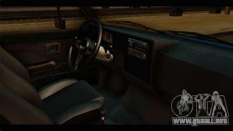 Volkswagen Caddy Mk1 Stock para la visión correcta GTA San Andreas