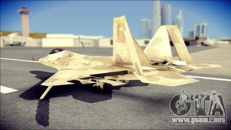 F-22 Raptor Desert Camo para GTA San Andreas left