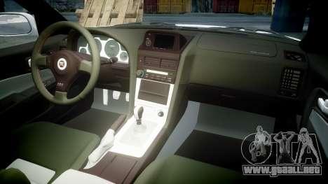 Nissan Skyline R34 GT-R Mines para GTA 4 vista lateral