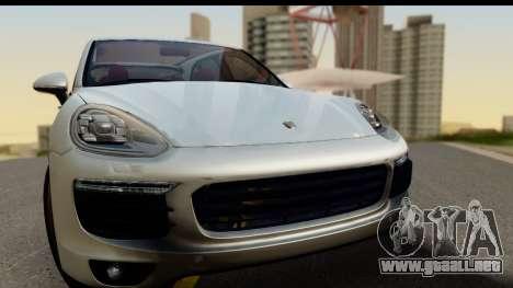 Porsche Cayenne S 2015 para GTA San Andreas vista posterior izquierda