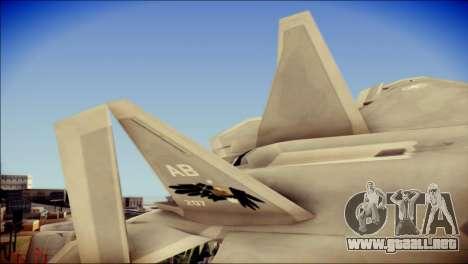 F-22 Gryphus, Falco and Antares para GTA San Andreas vista posterior izquierda