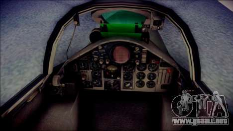 McDonnell Douglas F-4F Luftwaffe para GTA San Andreas vista hacia atrás