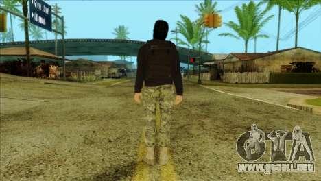 Sicario Skin v10 para GTA San Andreas segunda pantalla