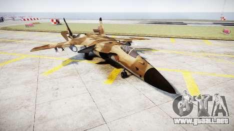 El Su-47 Berkut desert para GTA 4