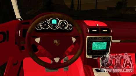 Porsche Cayenne S 2015 para visión interna GTA San Andreas
