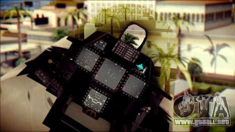 F-22 Gryphus, Falco and Antares para la visión correcta GTA San Andreas