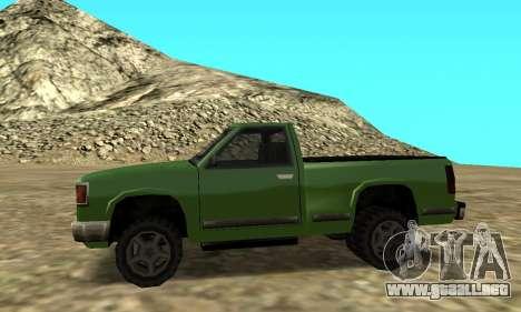 PS2 Yosemite para GTA San Andreas vista posterior izquierda