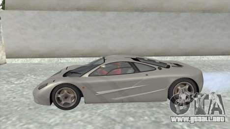 1992 McLaren F1 Clinic Model Custom Tunable v1.0 para la visión correcta GTA San Andreas
