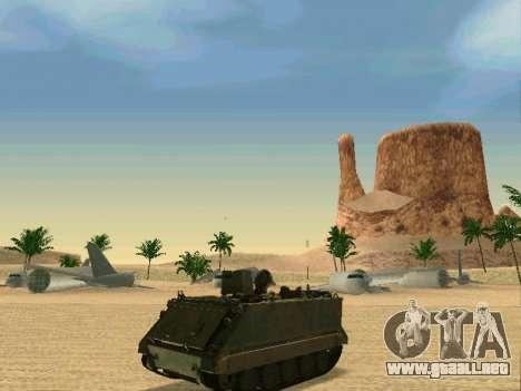 El M113 Blindados De Transporte De Personal para GTA San Andreas vista posterior izquierda