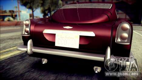 GTA 5 Dewbauchee JB 700 para GTA San Andreas vista hacia atrás