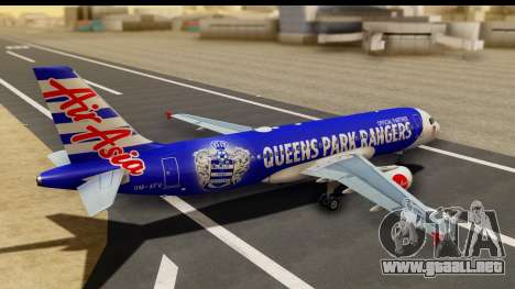 Airbus A320-200 AirAsia Queens Park Rangers para GTA San Andreas left