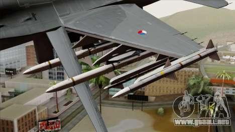 F-16AM Fighting Falcon para la visión correcta GTA San Andreas