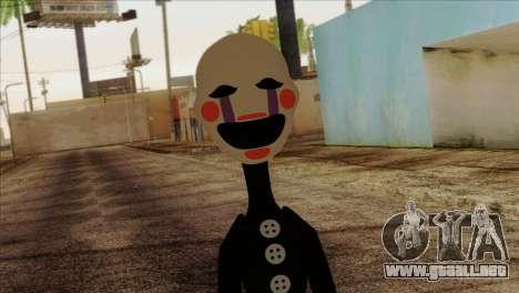 Puppet from Five Nights at Freddy 2 para GTA San Andreas tercera pantalla