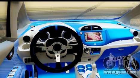 Honda Fit 2009 JDM Modification para visión interna GTA San Andreas