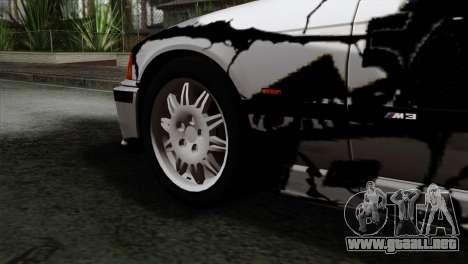 BMW M3 E36 Drift Editon para GTA San Andreas vista posterior izquierda