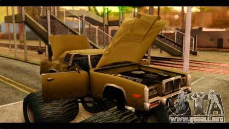 Monster Esperanto para GTA San Andreas vista hacia atrás