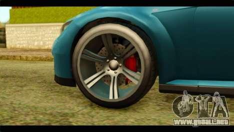GTA 5 Ubermacht Zion XS IVF para GTA San Andreas vista posterior izquierda