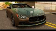 Maserati Ghibli S 2014 v1.0 SA Plate para GTA San Andreas
