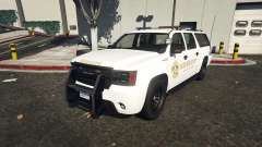 Declasse Sheriff SUV white para GTA 5