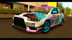 Mitsubishi Lancer Evolution X 2008 Miku Racing para GTA San Andreas