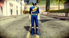 Power Rangers Kyoryu Blue Skin