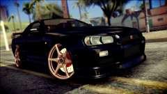 Nissan Skyline GTR V Spec II v2 para GTA San Andreas