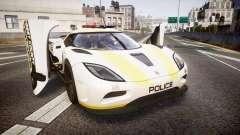 Koenigsegg Agera 2013 Police [EPM] v1.1 Low Qual para GTA 4