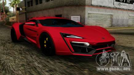 Lykan Hypersport 2014 Livery Pack 1 para GTA San Andreas