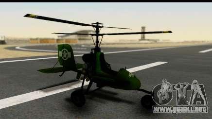 Gyrocopter para GTA San Andreas