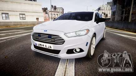 Ford Fusion Estate 2014 Unmarked Police [ELS] para GTA 4