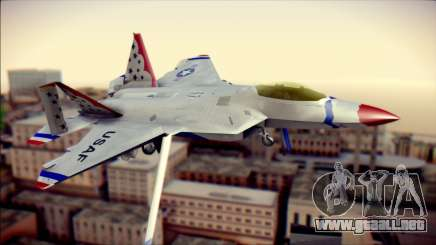 F-22 Raptor Thunderbirds para GTA San Andreas