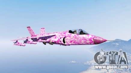 Hydra pink urban camouflage para GTA 5