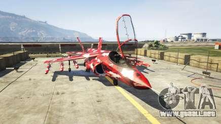 Hydra red camouflage para GTA 5