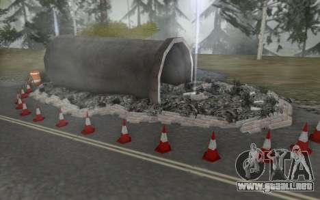 La reparación de los caminos para GTA San Andreas quinta pantalla