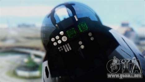 F-14D Super Tomcat Polish Navy para GTA San Andreas vista hacia atrás