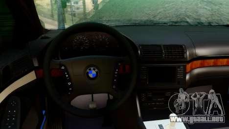 BMW 540i E39 para GTA San Andreas vista posterior izquierda
