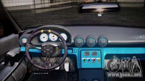Nissan Skyline GT-R R32 Battle Machine para GTA San Andreas vista hacia atrás