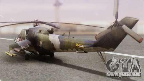 Mil Mi-24V Czech Air Force Tigermeet para GTA San Andreas left