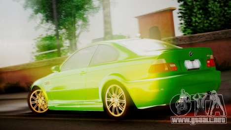 BMW M3 E46 v2 para la visión correcta GTA San Andreas
