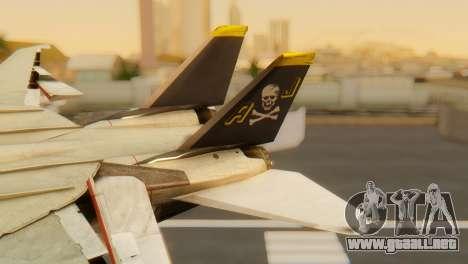 F-14A Tomcat VF-202 Superheats para GTA San Andreas vista posterior izquierda
