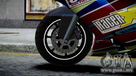 Bike Bati 2 HD Skin 2 para GTA 4 Vista posterior izquierda