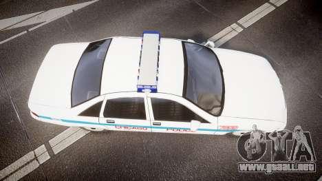 Chevrolet Caprice Chicago Police [ELS] para GTA 4 visión correcta
