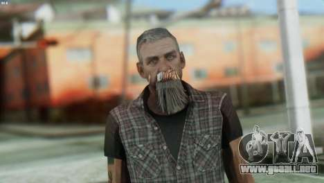Biker Skin from GTA 5 para GTA San Andreas tercera pantalla