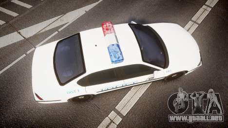 Chevrolet Impala Metropolitan Police [ELS] Pat para GTA 4 visión correcta
