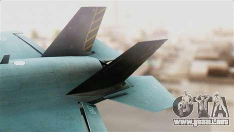 F-35B Lightning II para GTA San Andreas vista posterior izquierda