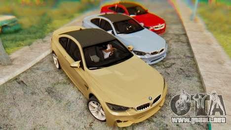 BMW M4 2015 IVF para GTA San Andreas left