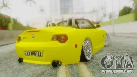 BMW Z4 Construcción de la Ens para GTA San Andreas left