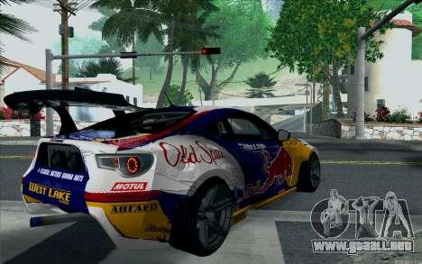 Toyota GT86 Red Bull para GTA San Andreas left